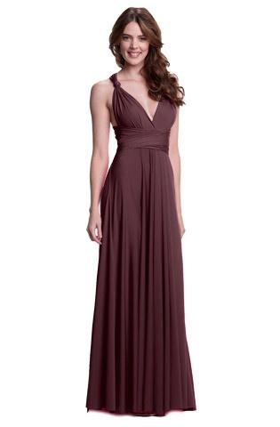 шоколадные платья в пол фото